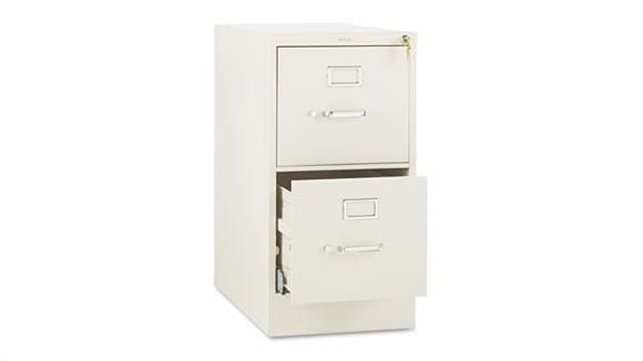 "File Cabinets Vertical HON 29""H x 25""D Two-Drawer Full-Suspension Letter File"