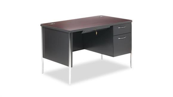 """Steel & Metal Desks HON 48"""" Single Pedestal Desk"""