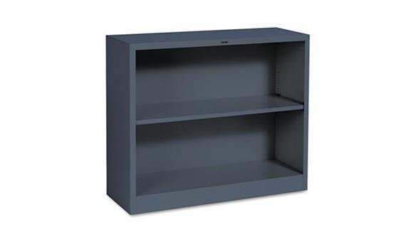 "Bookcases HON 34-1/2""W x 12-5/8""D x 29""H Two-Shelf Metal Bookcase"