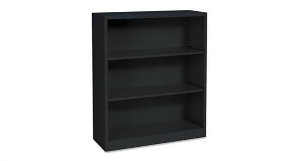 "Bookcases HON 34-1/2""W x 12-5/8""D x 41""H Three-Shelf Metal Bookcase"