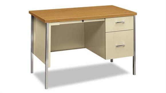 """Executive Desks HON 45-1/4""""W x 24""""D x 29-1/2""""H Right Pedestal Desk"""