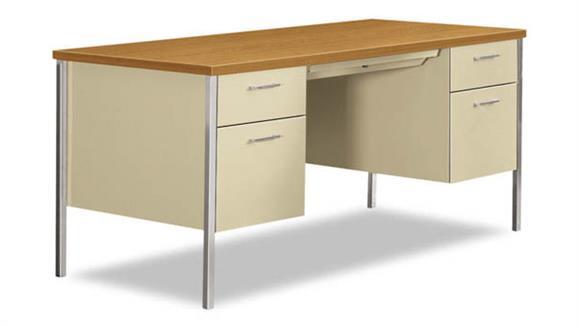 """Executive Desks HON 60""""W x 30""""D x 29-1/2""""H Double Pedestal Desk"""