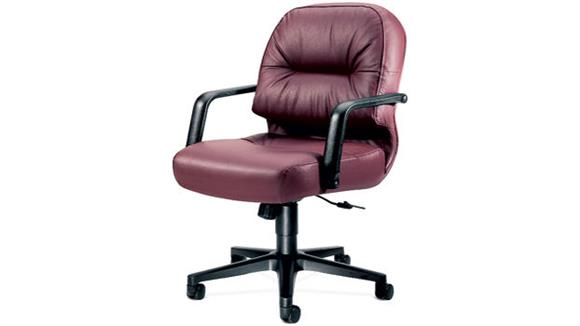 Office Chairs HON Executive Leather Mid Back Chair