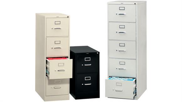 File Cabinets Vertical HON 2 Drawer Letter Size Vertical File