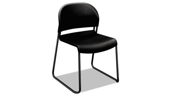 Side & Guest Chairs HON Black with Black Finish Legs Guest Chairs - 4/Pk