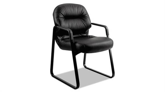 Side & Guest Chairs HON Leather Guest Arm Chair