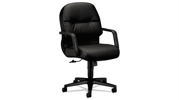Office Chairs HON Managerial Leather Mid-Back Swivel/Tilt Chair