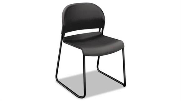 Side & Guest Chairs HON Charcoal with Black Finish Legs Guest Chairs - 4/Pk