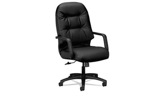 Office Chairs HON Executive Leather High-Back Swivel/Tilt Chair