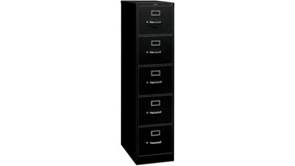 File Cabinets Vertical HON 5 Drawer Letter Size Vertical File