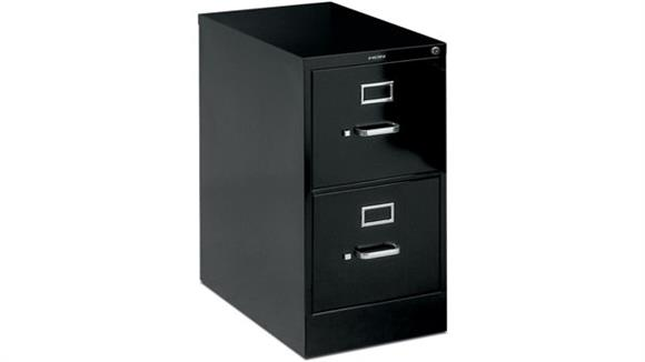 "File Cabinets Vertical HON 2 Drawer 25""D Letter Size Vertical File"
