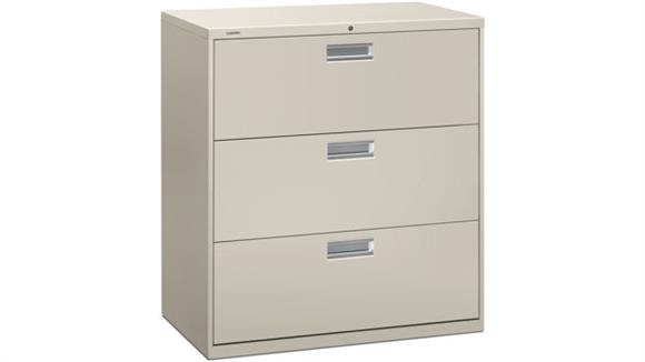 "File Cabinets Lateral HON 36""W 3 Drawer Lateral File"