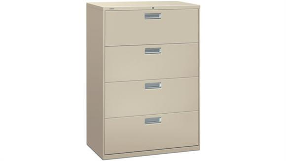"File Cabinets Lateral HON 36""W 4 Drawer Lateral File"