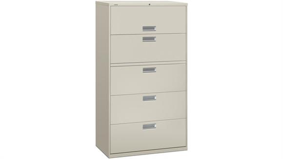 """File Cabinets Lateral HON 36"""" W 5 Drawer Lateral File"""