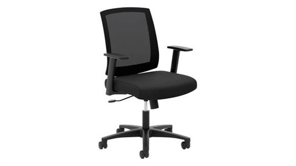 Office Chairs HON Mesh Mid-Back Task Chair with Arms