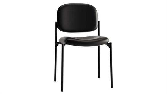 Stacking Chairs HON Stacking Armless Leather Guest Chair
