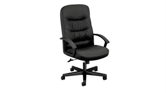 Office Chairs HON Leather High-Back Swivel/Tilt Chair