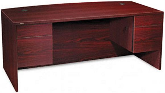 "Executive Desks HON 72"" Double Pedestal Bow Front Desk"