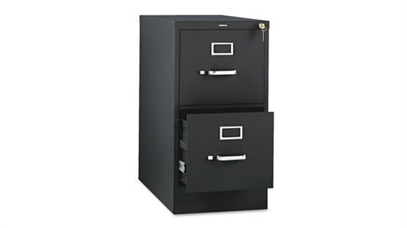 "File Cabinets Vertical HON 26-1/2""D Two-Drawer, Full-Suspension Letter File"