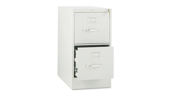 "File Cabinets Vertical HON 26-1/2"" D Two-Drawer, Full-Suspension Letter File"