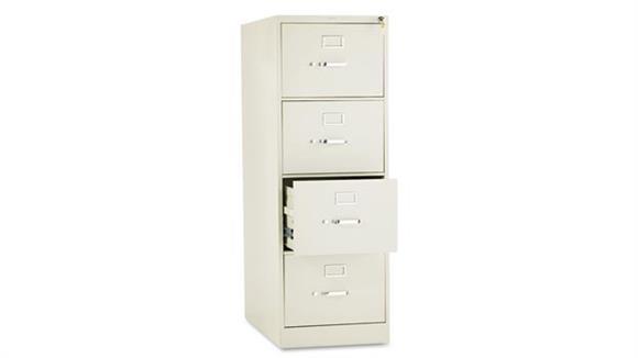 "File Cabinets Vertical HON 26-1/2"" D Four-Drawer, Full-Suspension Legal File"