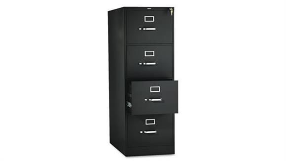 "File Cabinets Vertical HON 26-1/2""D Four-Drawer, Full-Suspension Legal File"