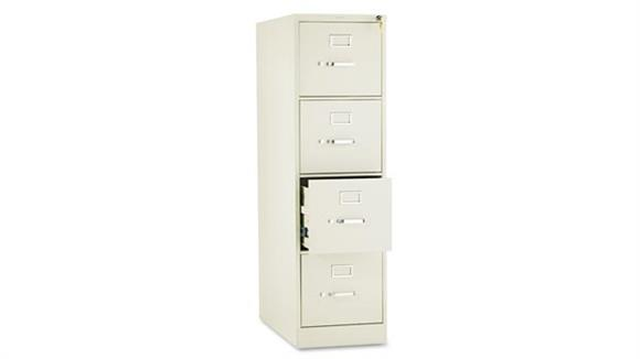 "File Cabinets Vertical HON 26-1/2""D Four-Drawer, Full-Suspension Letter File"