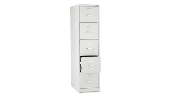 """File Cabinets Vertical HON 26-1/2""""D Five-Drawer, Full-Suspension Letter File"""