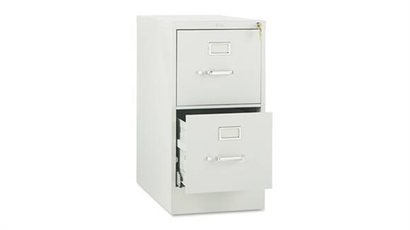 "File Cabinets Vertical HON 29""W x 25""D Two-Drawer Full-Suspension Letter File"