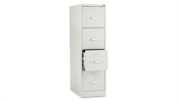 "File Cabinets Vertical HON 52""H x 25""D Four-Drawer Full-Suspension Letter File"