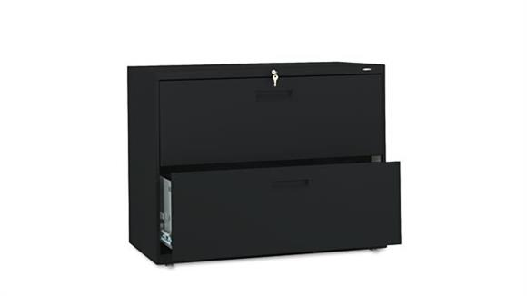 """File Cabinets Lateral HON 36""""W x 19-1/4""""D x 28-3/8""""H Two-Drawer Lateral File"""