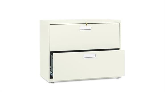 "File Cabinets Lateral HON 36""W x 19-1/4""D Two-Drawer Lateral File"