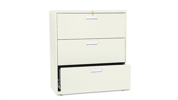 "File Cabinets Lateral HON 36""W x 19-1/4""D Three-Drawer Lateral File"