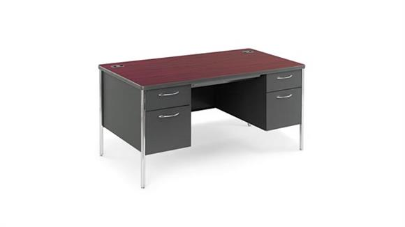 "Executive Desks HON 60""W x 30""D x 29-1/2""H Double Pedestal Desk"