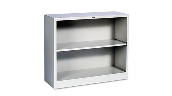 "Bookcases HON 34-1/2""W x 12-5/8""D x 29""H Two-Shelf Metal Bookcase"