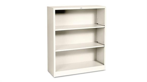 "Bookcases HON 34-1/2""W x 12-5/8""D x 41""H Three-Shelf Metal Bookcase"