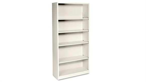 "Bookcases HON 34-1/2""W x 12-5/8""D x 71""H  Five-Shelf Metal Bookcase"