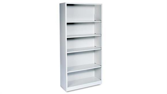 "Bookcases HON 34-1/2""W x 12-5/8""D x 71""H Five-Shelf Metal Bookcase"