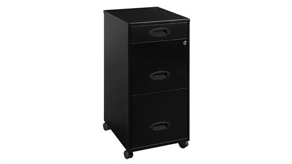 Mobile File Cabinets Hirsh Industries 3 Drawer Mobile File Cabinet