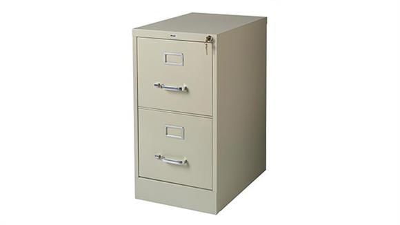 "File Cabinets Vertical Hirsh Industries 2 Drawer Letter Size Vertical File Cabinet - 22""D"