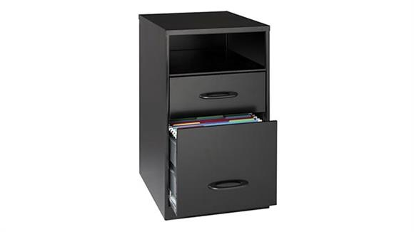 File Cabinets Vertical Hirsh Industries 2 Drawer Letter Size Vertical File Cabinet with Shelf