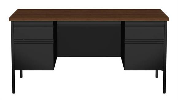 """Executive Desks Hirsh Industries 30"""" X 60"""" Double Pedestal Desk"""