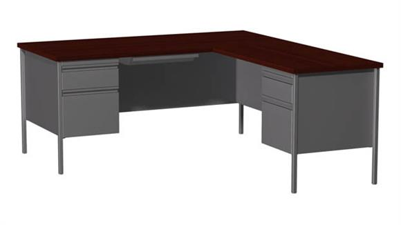 "Corner Desks Hirsh Industries 66"" x 72"" Corner Right Return"