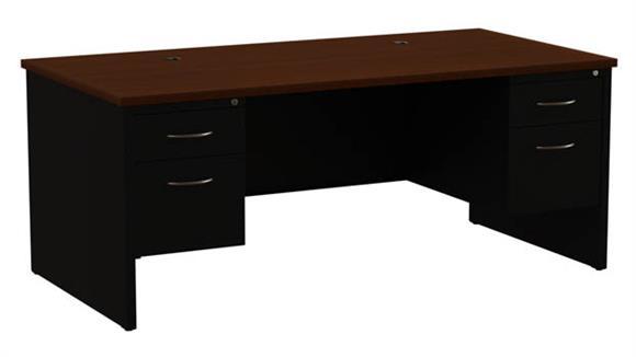 """Executive Desks Hirsh Industries 36""""x72"""" Double Pedestal Desk"""