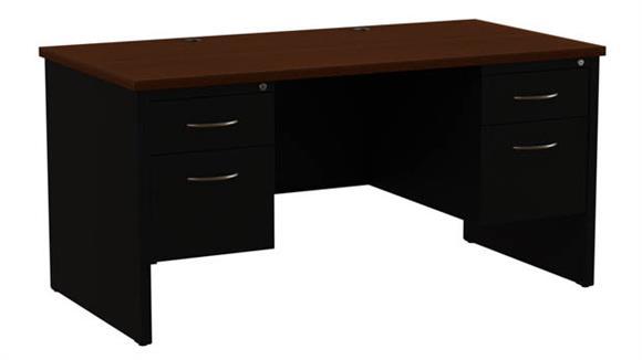 """Executive Desks Hirsh Industries 30""""x60"""" Double Pedestal Desk"""