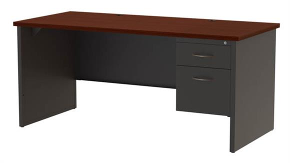 "Executive Desks Hirsh Industries 30""x 66"" Right Hand Single Pedestal Desk"