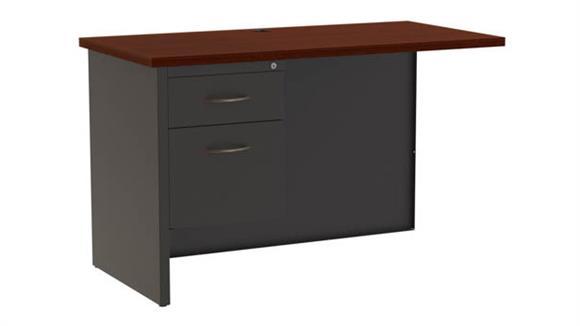 "Desk Parts & Accessories Hirsh Industries 24"" x 48"" Left Hand Return Desk"