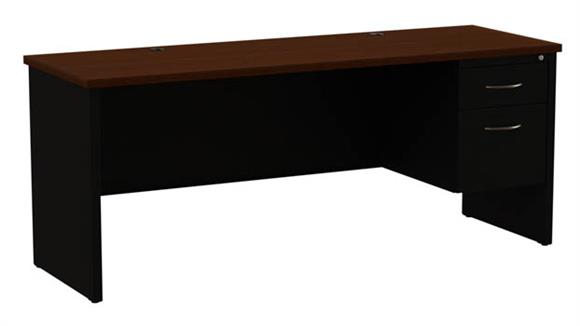 "Office Credenzas Hirsh Industries 24"" x 72"" Right Hand Single Pedestal Credenza"