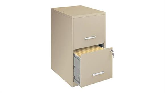 "File Cabinets Vertical Hirsh Industries 2 Drawer Letter Size Vertical File Cabinet - 18""D"