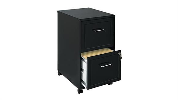 Mobile File Cabinets Hirsh Industries 2 Drawer Mobile File Cabinet